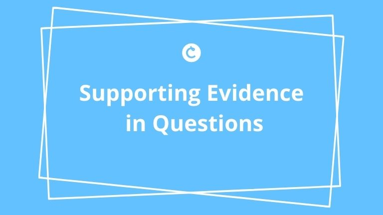 Supporting Evidence in Questions