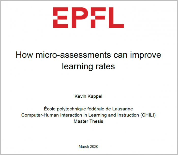 Lernfortschritt durch Micro-Assessments: Umfassend EPFL Studie durchgeführt