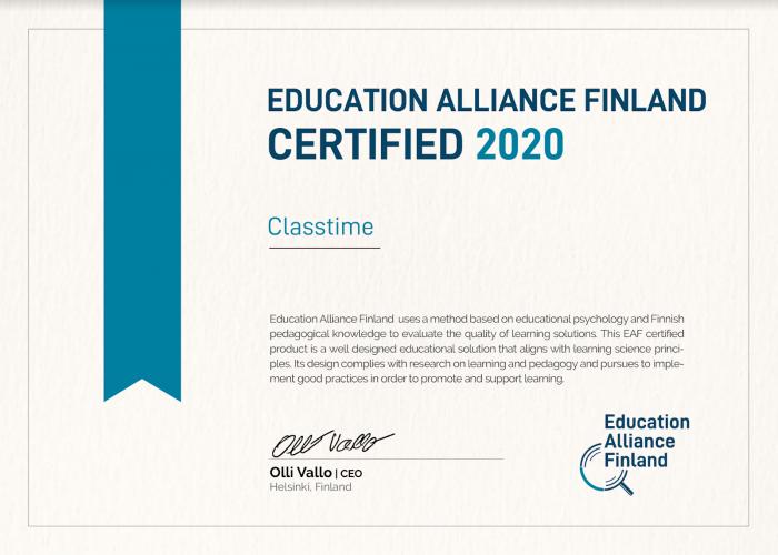 Lernfortschritt durch Micro-Assessments gemäss Education Alliance Finland durch Classtime gesteigert