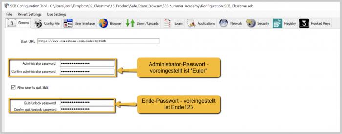 Safe Exam Browser (SEB) einrichten